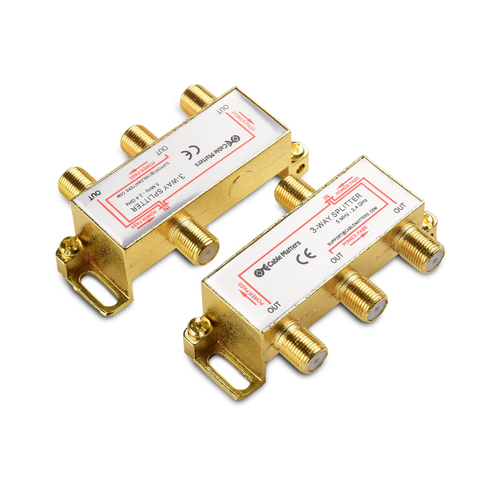 Cable Matters 2 Pack Coaxial Splitter