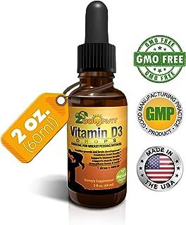 Vitamin D Drops for Infants - Liquid Vitamin D3 for Adults, Kids, Baby - 400iu Per Drop - 2fl. oz 2140 doses