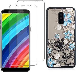 comprar comparacion YKTO Cristal Templado + Funda para Samsung Galaxy A6 Plus 2018 (A9 Star Lite) 6.0 Pulgadas Fina 3D Moda Dibujos Caso [2 Pi...