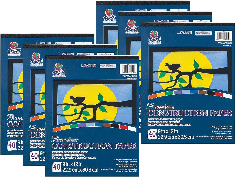 Tru-Ray Construction Paper Pad, 10 Classic Colors, 9