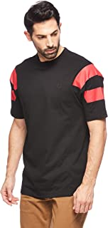 Fred Perry Men's Printed Sleeve Panel T-Shirt, Black, Large
