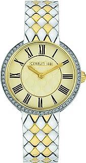Cerruti 1881 Vallarsa Analogue Silver And Gold Plated Case, Champgne Dial And Silver And Gold Plated Stainless Steel Watch...