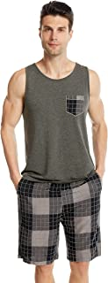 Ueither Mens Pyjamas Loungewear Short PJs Set Sleeveless Top & Shorts