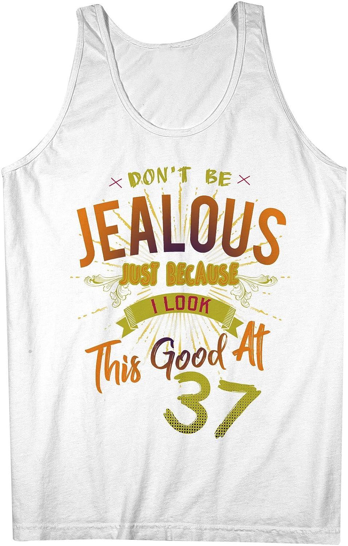 Don't Be Jealous I Look This Good At 37 お誕生日 Anniversary 男性用 Tank Top Sleeveless Shirt