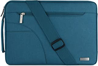 MOSISO Laptop Shoulder Bag Compatible with 15-15.6 inch MacBook Pro, Ultrabook Netbook, Polyester Protective Briefcase Carrying Handbag Sleeve Case Cover with Side Handle, Deep Teal