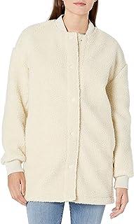 Goodthreads Amazon Brand Women's Sherpa Long Sleeve Snap Front Coat