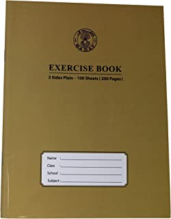 SADAF EXERCISE BOOK A5 SIZE 2SIDE PLAIN 100 SHEETS (200 PAGES)