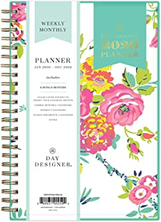 Day Designer for Blue Sky 2020 Weekly & Monthly Planner, Flexible Cover, Twin-Wire Binding, 5