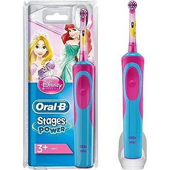 Oral-B Stages Power Spazzolino Elettrico Ricaricabile per Bambini con Principesse Disney, con 1 Manico e 1 Testina