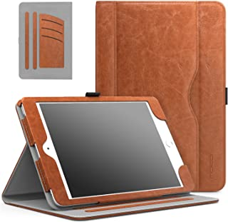 MoKo Case Fit iPad Mini 3/2/1, Slim Folding Stand Folio Cover Case Compatible with Apple iPad Mini 1/Mini 2/Mini 3, with Auto Wake/Sleep and Document Card Slots, Multiple Viewing Angles, Brown