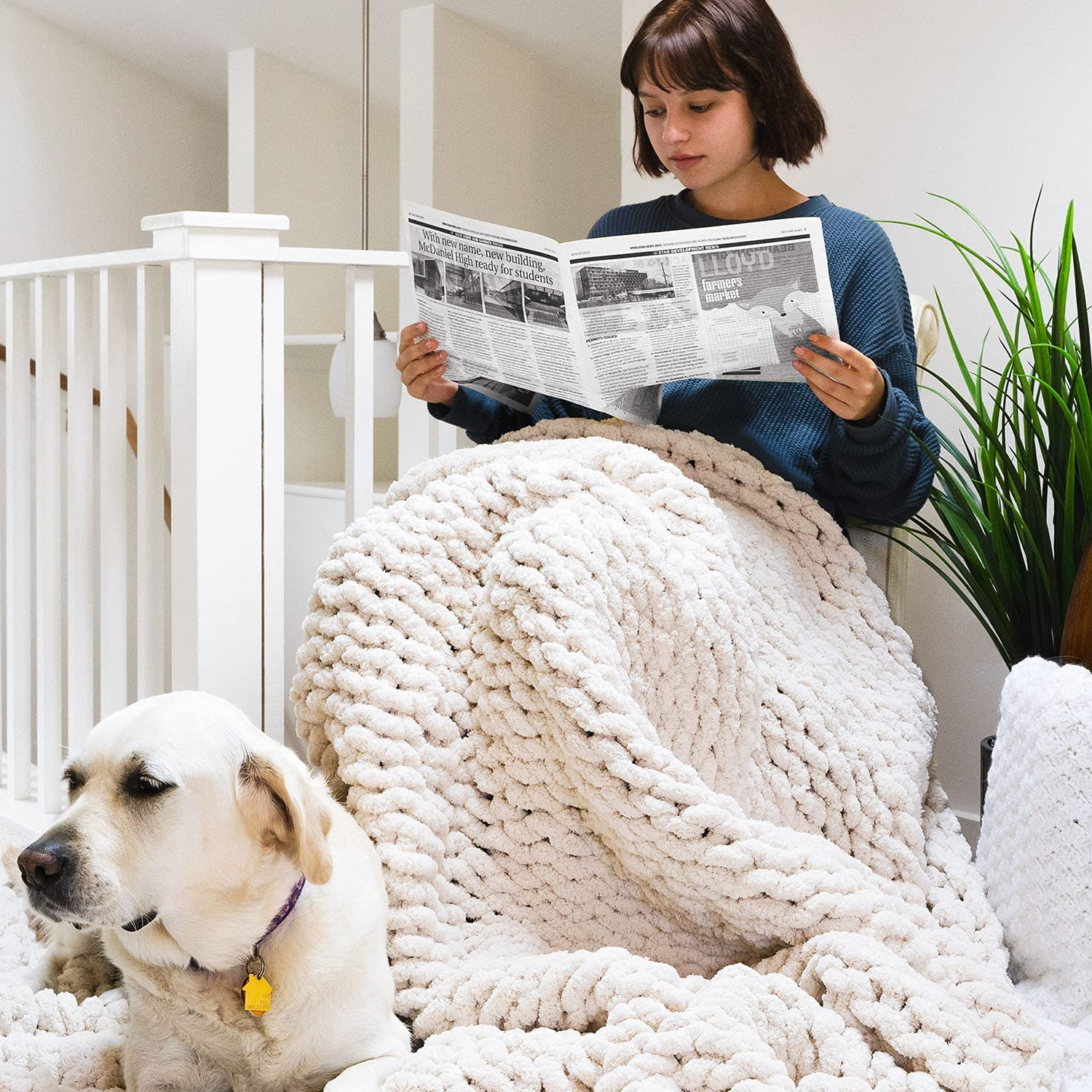 EASTSURE Free shipping Chunky Knit New products world's highest quality popular Blanket Cozy Throw Super Soft