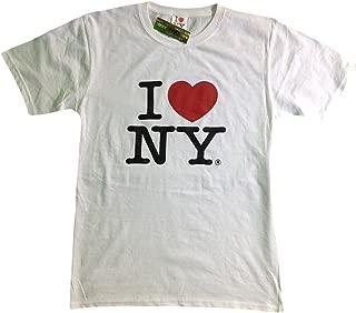 I Love NY New York Kids Short Sleeve Screen Print Heart T-Shirt White
