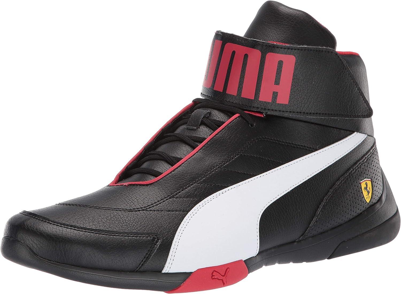 PUMA Men's Scuderia Ferrari Kart Cat Mid 3 Sneaker
