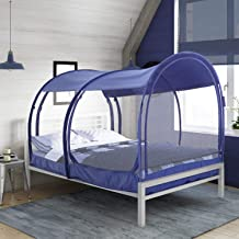 Alvantor Mosquito Net Bed Canopy Bed Tents Dream Tents Privacy Space Twin Size Sleeping Tents Indoor Pop Up Portable Frame Breathable Cottage Navy (Mattress Not Included)