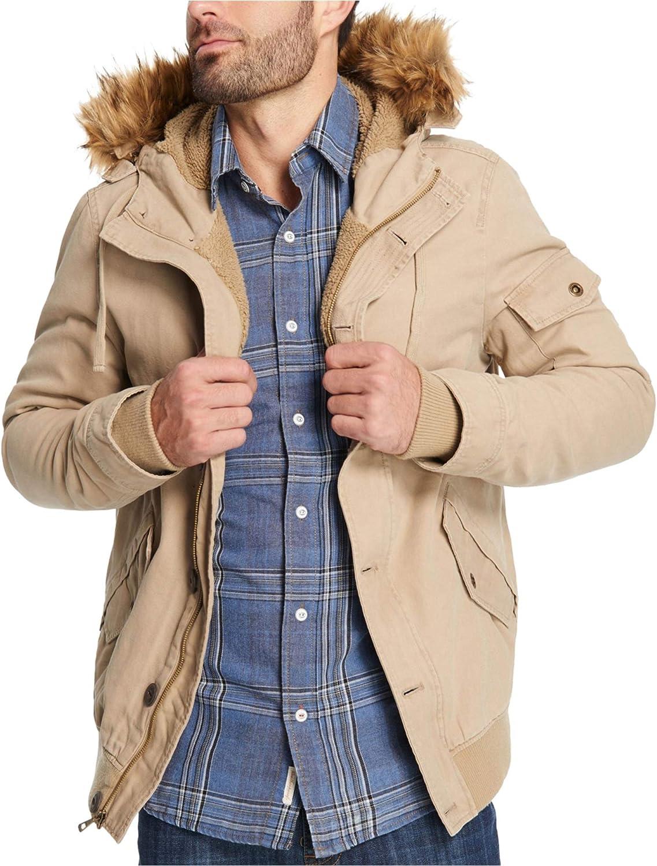 Weatherproof Mens Canvas Fleece Parka Coat