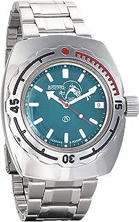 Vostok Amphibian Automatic Mens Wristwatch Self-Winding Military Diver Amphibia Case Wrist Watch #090059 Scuba Dude (Polished)