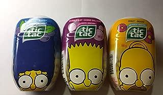 The Simpsons Limited Edition Tic Tac Mints Three Jumbo Packs 600 Total Mints