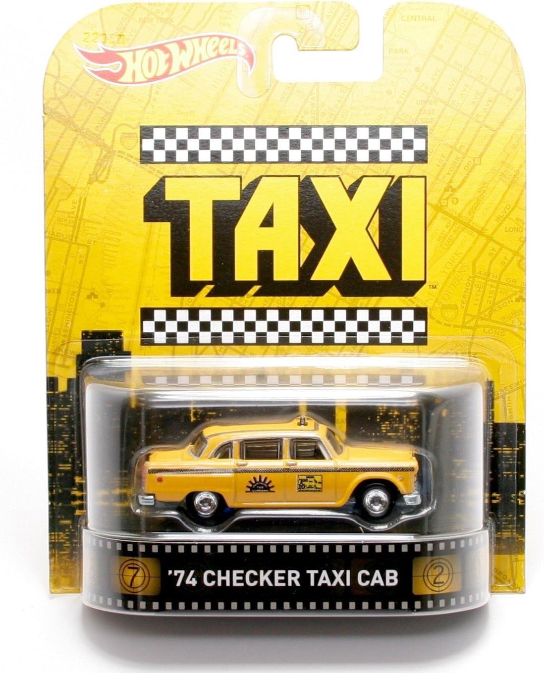 Hot Wheels 1974 Checker Taxi Genuine Cab 1 Max 74% OFF 64 Retro Die 2015 Series