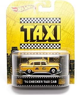 Hot Wheels 1974 Checker Taxi Cab Taxi 2015 Retro Series 1/64 Die Cast Vehicle