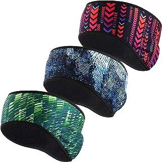 YOSUNPING 3 Pack Thermal Fleece Ear Warmers Ear Muffs Headband for Men Women Running Ski Hiking Cycling in Winter