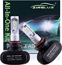 ZX1 Seoul 9005 HB3 H10 9145 8000LM High Beam Headlight Conversion Kit,Fog Driving Light,for Replacing Halogen Headlamp All-in-One Conversion Kits,CSP Tech,6500K Xenon White,Fanless design, 1 Pair