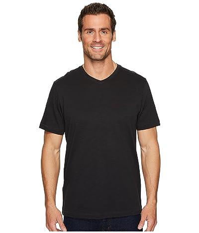 Tommy Bahama Portside Palms V-Neck T-Shirt (Black) Men