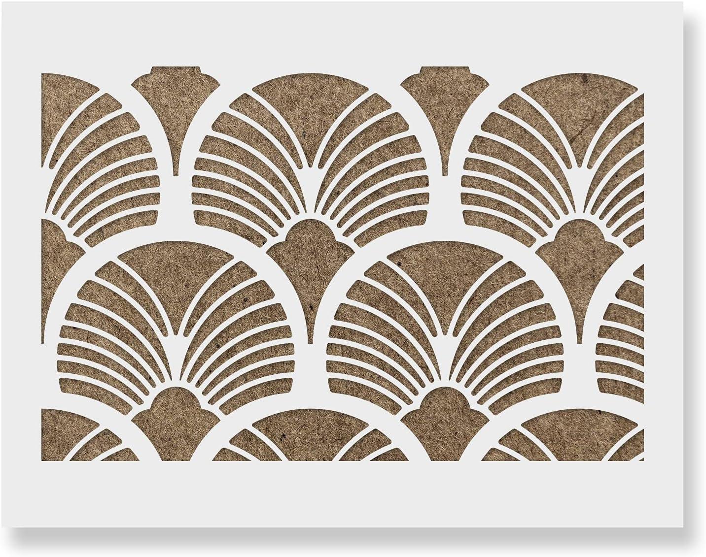 Geometric Deluxe Sun Burst Pattern Wall DIY Alterna - latest Wallpaper Stencil