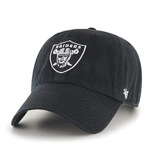 154dbb8f NFL Oakland Raiders Clean Up Adjustable Hat, Black, One Size Fits All Fits  All
