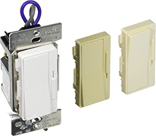 Eaton Controls DF10P-C1 Decorator 0-10V Dimmer 120/277V with Color Change Kit, Almond, White, Ivory