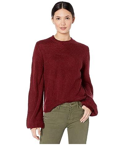 WAYF Weston Pullover Sweater (Burgundy) Women