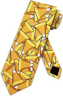Candy Corn Neck Tie Halloween Ties Mens Neckties by Three Rooker