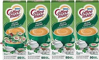NESTLE COFFEE-MATE Coffee Creamer, Irish Creme, liquid creamer singles, 50 Count (Pack of 4)