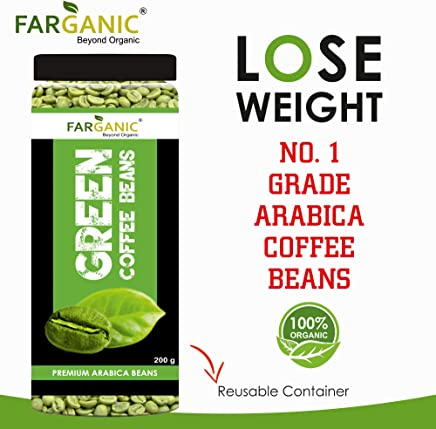 FARGANIC Organic Arabica Green Coffee Beans (200 gm)