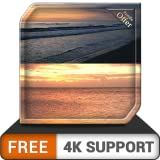 FREE Seashore Sunset HD - Relax yourself with Peaceful waves on your HDR 8K 4K TV and Fire Devices as a wallpaper & Theme for Mediation & Peace