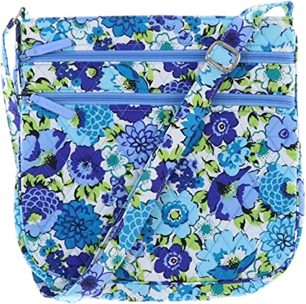 Vera Bradley Triple Zip Hipster Cross-body Bag with Updated Solid Interiors 99c2d00ac0497