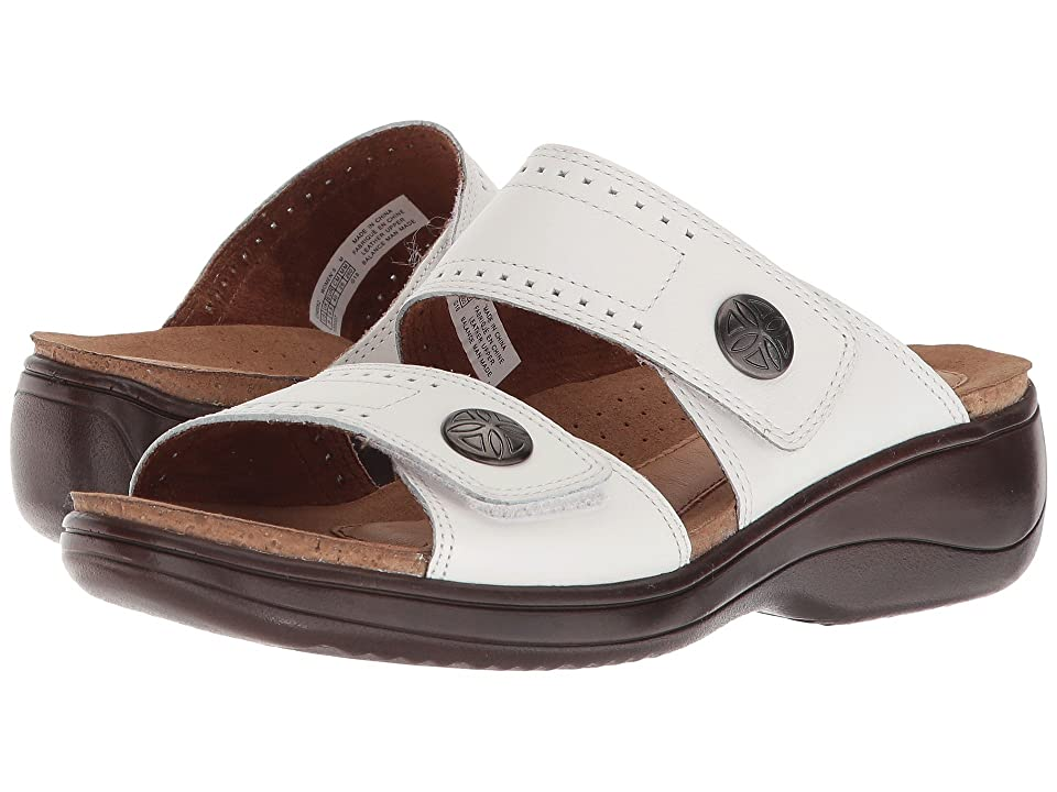 Rockport Cobb Hill Collection Cobb Hill Maisy 2 Band (White Leather) Women