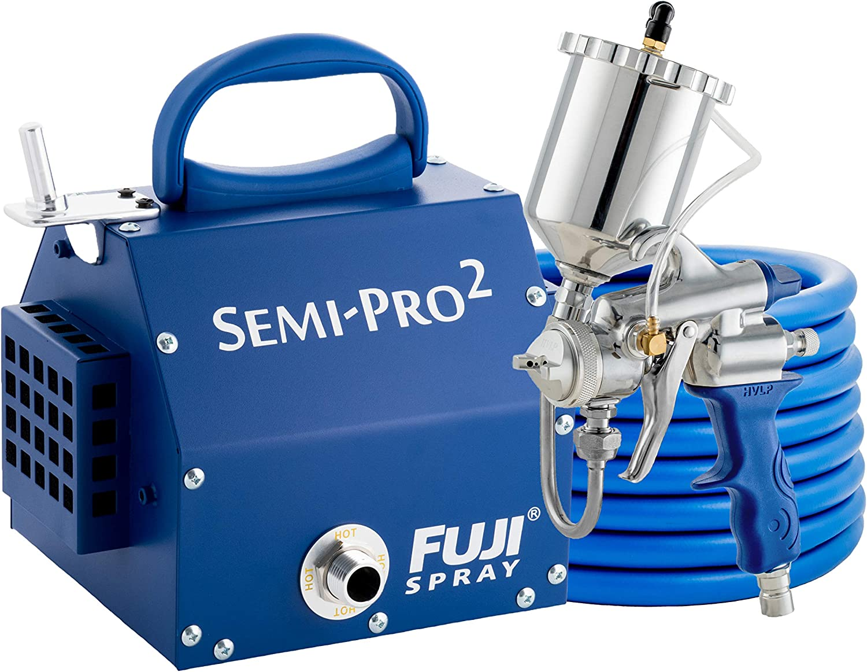 Fuji 2203G Semi-PRO 2 - Gravity HVLP Spray System, Blue - Power Paint  Sprayers - Amazon.com