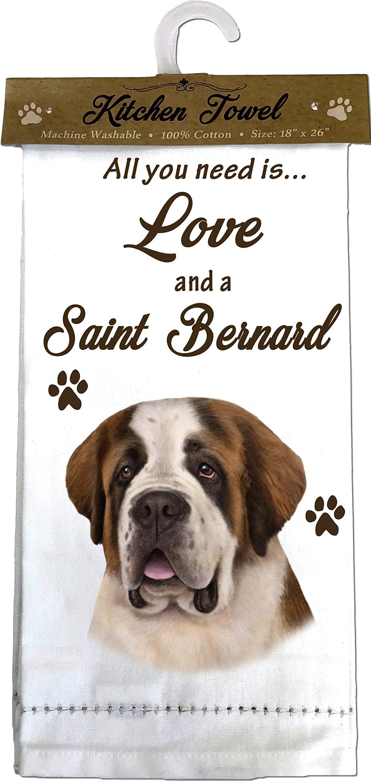 Saint Bernard Dish Towel