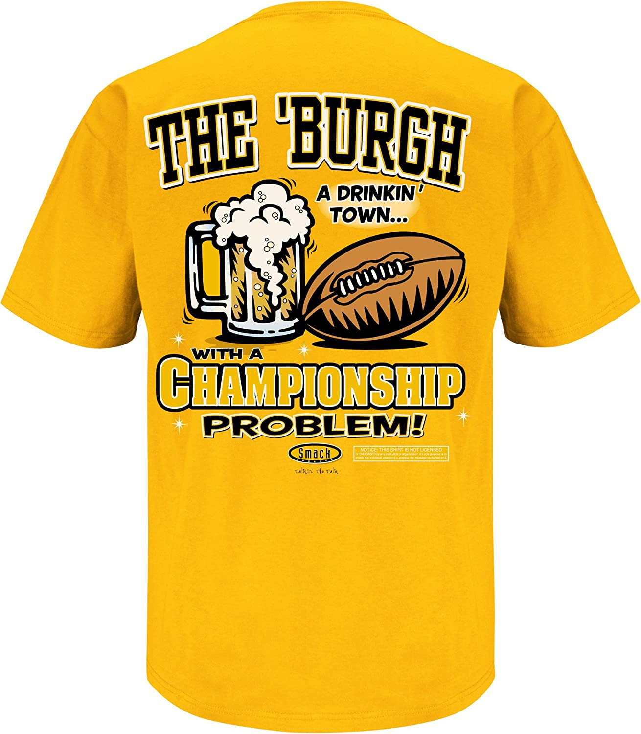 A Drinking Town with a Football Problem Gold T-Shirt Smack Apparel Pittsburgh Football Fans Sm-5X