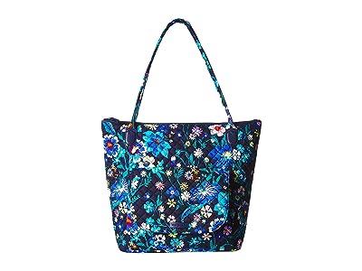 Vera Bradley Carson North/South Tote (Moonlight Garden) Tote Handbags