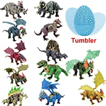 BIBIELF Dinosaur Toys Eggs for Kids Noverty Tumbler 12 Styles Dino Eggs Kit with Accembling Toys Inside for Boys Girls Birthday Gift, Party Favor, Prize Supplies, Educational Kit