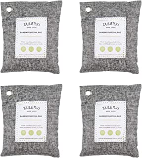 TAILERRI 4 Pack Bamboo Charcoal Air Purifying Bag, Activated Charcoal Bags, Car Air Freshener, Odor Absorber, Odor Elimina...