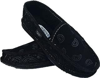 Black On Black Bandana Fur House Shoes Slippers Trooper