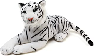VIAHART Saphed The White Tiger | 17 inch Long (Not Including Tail!) Stuffed Animal Plush | by Tiger Tale Toys