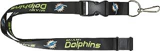 aminco NFL Miami Dolphins Black Wordmark Lanyard, Black