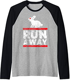 Holy Killer Bunny Run Away Grail Quest Funny Gift Raglan Baseball Tee