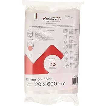 Flaem Nuova ACO1066 Magic Vac, Rotoli per Alimenti, 2 pezzi da 20x600 cm, Trasparente