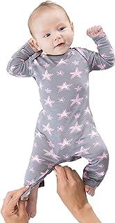 GUNAMUNA Baby Boy & Baby Girl Romper Pajama, Coverall with DIAPER-ZiPPER