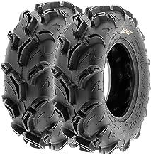 Pair of 2 SunF Warrior AT 27x9-12 ATV UTV Mud & Trail Tires, 6 PR, Tubeless A048
