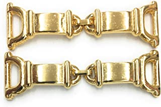 2 Gold Embellishment, Shoe Ornament, Dress, Pocket Ornament, Bikini Connectors, Swimwear Connectors